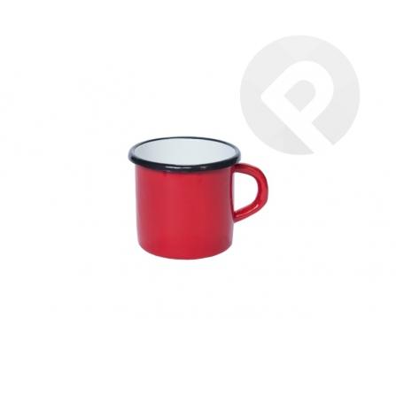 Kubek emaliowany gładki - czerwony 14 cm