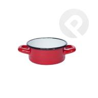 Garnek / Rondel z uchami - czerwony 12 cm
