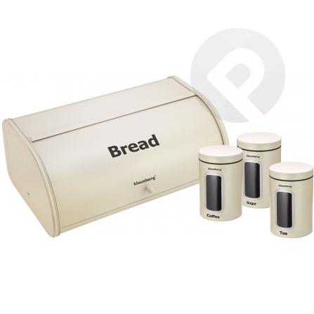 Chlebak z pojemnikami - kremowy