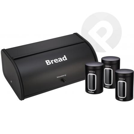 Chlebak z pojemnikami - czarny