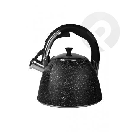 Czajnik z gwizdkiem czarny 3 L
