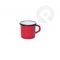 Kubek emaliowany gładki - czerwony 8 cm