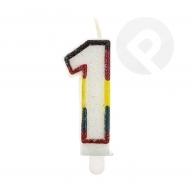 Świeczka urodzinowa cyferka