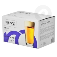 Szklanki do piwa Pure 530 ml 6 sztuk KROSNO