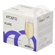 Kieliszki do szampana Pure 180ml 6sztuk KROSNO