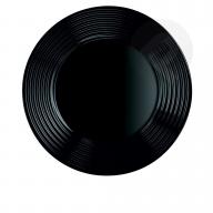 Talerz obiadowy czarny Harena 25 cm Luminark