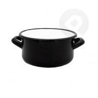 Garnek / Rondel z uchami - czarny 18 cm