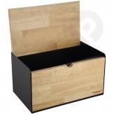 Chlebak stalowo-drewniany dwustronny - czarny