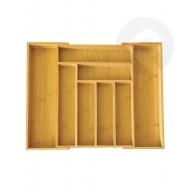 Rozsuwany wkład do szuflady bambusowy