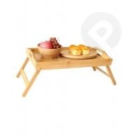 Mini stolik bambusowy ze składanymi nogami