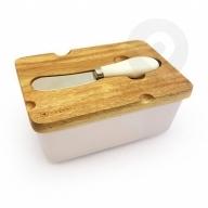 Maselniczka porcelanowa + nożyk