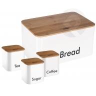 Chlebak z pojemnikami - biały