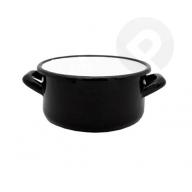 Garnek / Rondel z uchami - czarny 14 cm