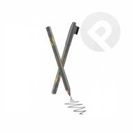 Kredka drewniana ze szczoteczką do brwi