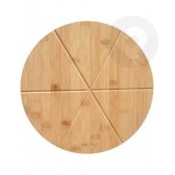 Deska bambusowa do serwowania i krojenia pizzy
