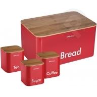 Chlebak z pojemnikami - czerwony