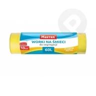 Worki na śmieci 60L 10 sztuk żółte