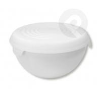 Miska plastikowa z przykrywką bąble 3 l biała