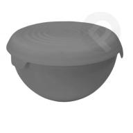 Miska plastikowa z przykrywką bąble 3 l szara