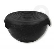 Miska plastikowa z przykrywką bąble 1,5 l czarna kosmos