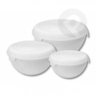Kpl. misek plastikowych z przykrywką biała