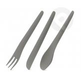 Kpl. sztućców łyżka, nóż, widelec - szary