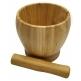 Moździerz i ubijak bambusowy w zestawie