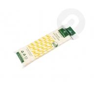 Słomki papierowe ekologiczne 25 sztuk żółte paski