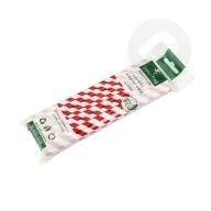 Słomki papierowe ekologiczne 25 sztuk czerwone paski